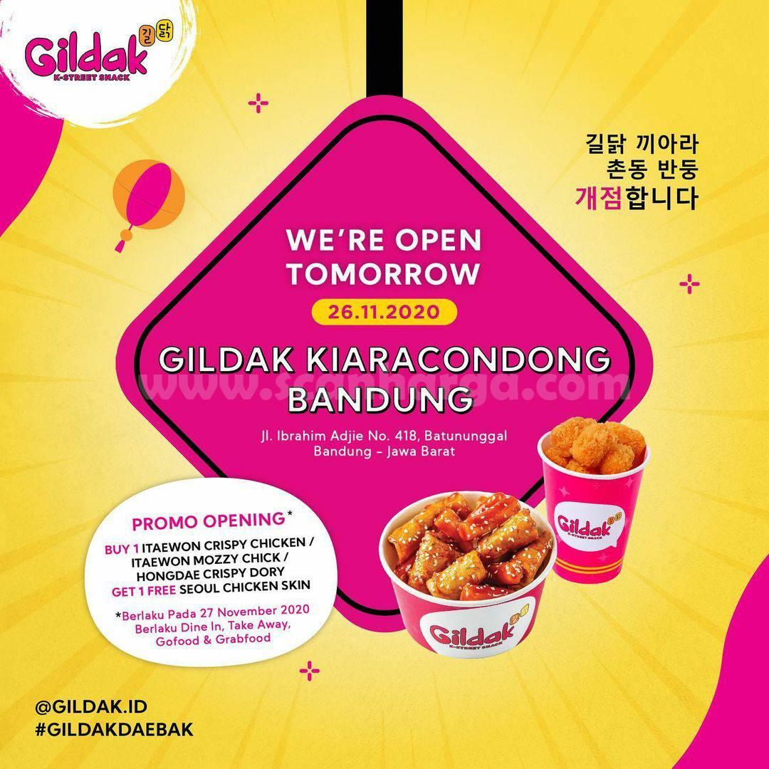 Gildak Kiara Condong Bandung Opening Promo Buy 1 Get 1 Free