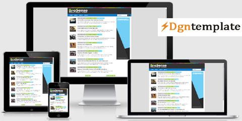 BroSense Blogger Template | High Quality Templates 2020