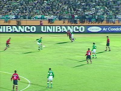 Virada histórica levou o Palmeiras para a semifinal da Copa do Brasil de 1999. Foto: Reprodução/Band