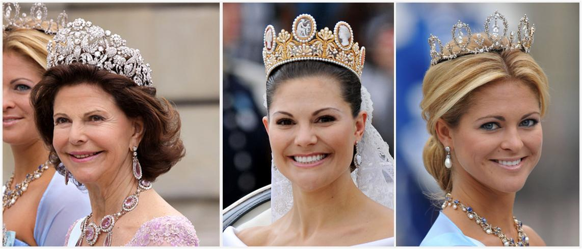 Left To Right Queen Silvia Crown Princess Victoria And Madeleine Of Sweden