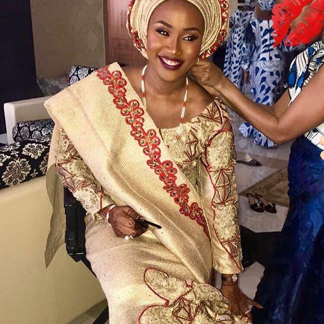 First photos of beautiful bride Halima Babangida  First photos of...