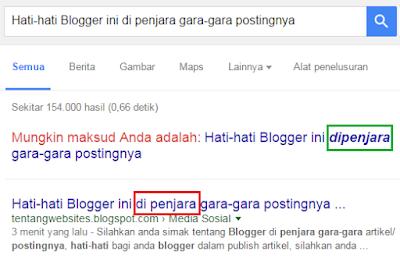 Judul Artikelku di perbaiki oleh google