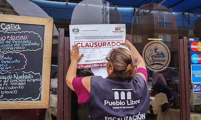 Municipalidad de Pueblo Libre clausuró cevicherías por insalubridad y falta de seguridad