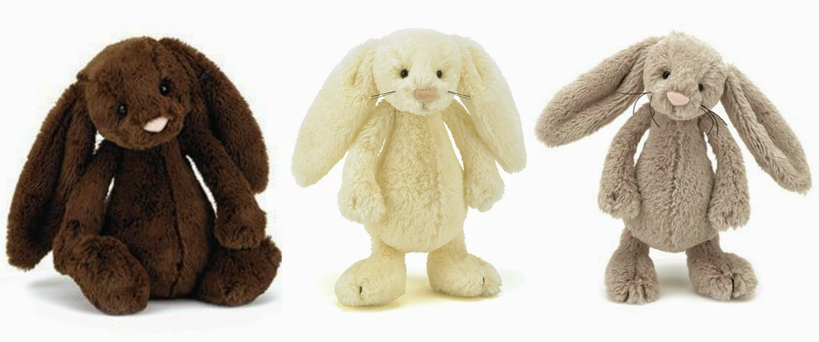 Jellycat plush bunnies