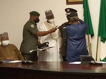 Vice President of Nigeria Yemi Osinbajo Decorates Usman Alkali, New IGP (Photos)