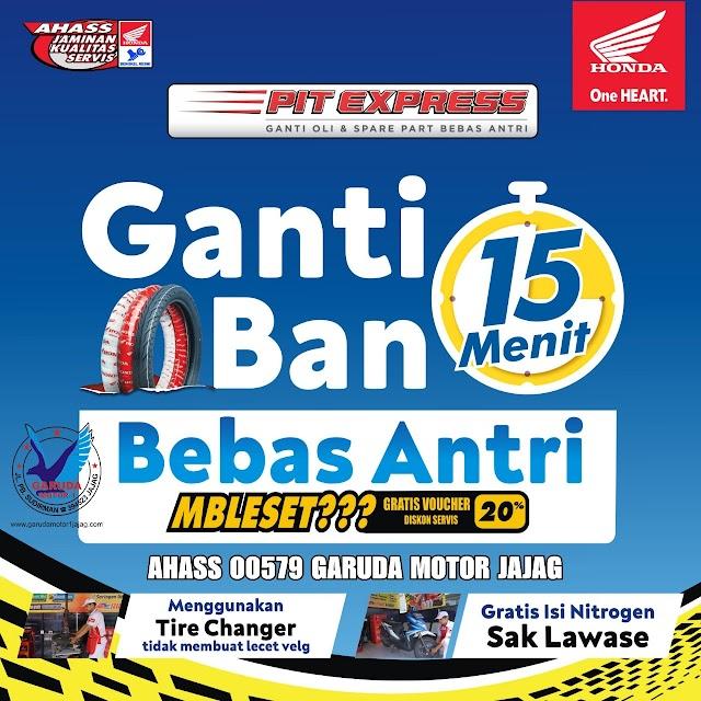 Ganti Ban 15 Menit Di Ahass Garuda Motor Jajag