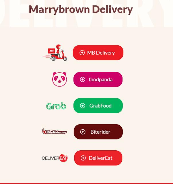 Pembelian Marrybrown Melalui Khidmat Penghantaran