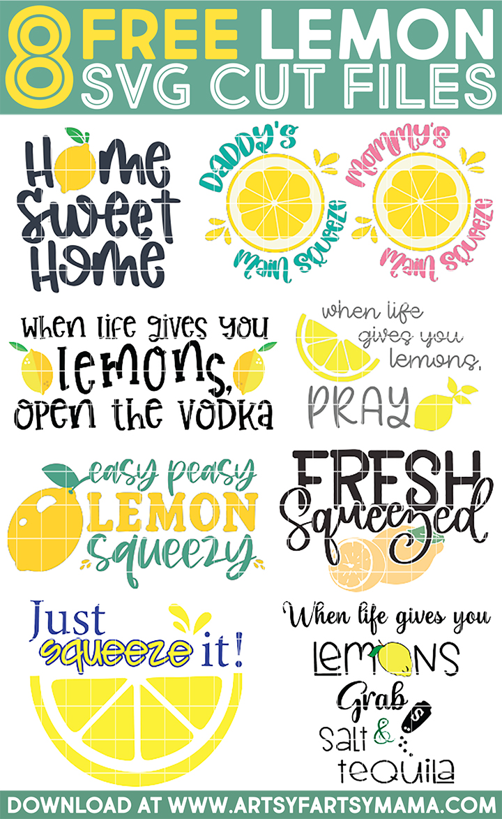 8 Free Lemon-Themed Cut Files