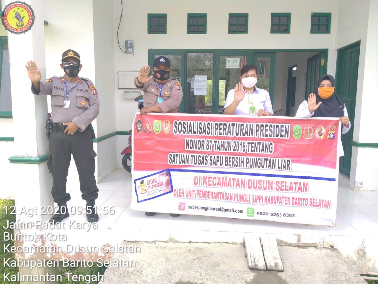 Cegah Pungli, Polsek Dusun Selatan Gencar Laksanakan Sosialisasi