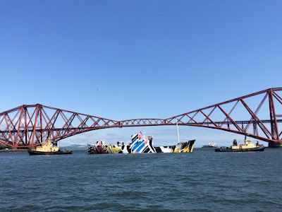 DazzleShip under Forth Bridge
