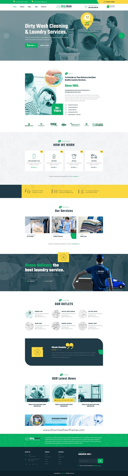 Dry Cleaning & Laundry Service Website Template