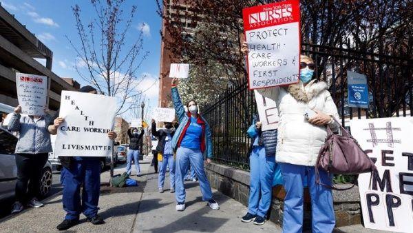 Enfermeros de EE.UU. exigen medios de protección ante Covid-19