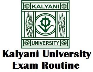 University of Kalyani Exam Time Tables 2018