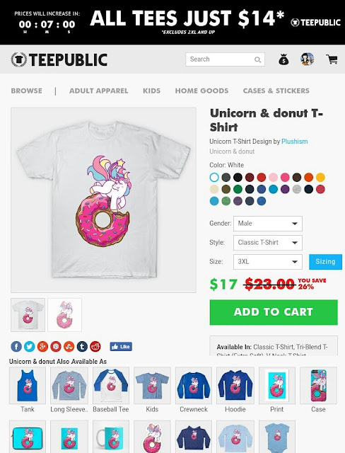 https://www.teepublic.com/t-shirt/1349244-unicorn-and-donut
