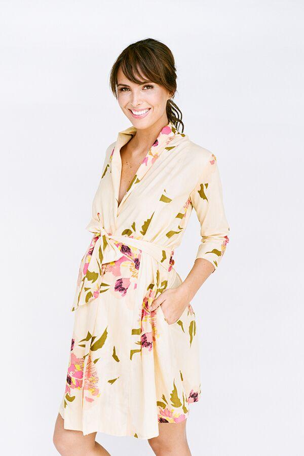 floral pregnancy robe