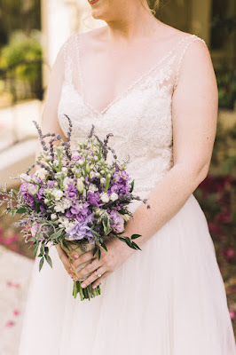 lavender bridal bouquet