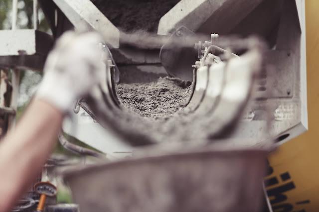 حساب كميات المواد للخرسانة - الأسمنت والرمل والركام