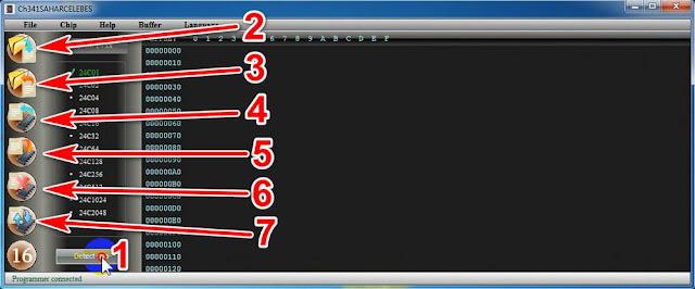 Fungsi tombol-tombol ch341a programmer