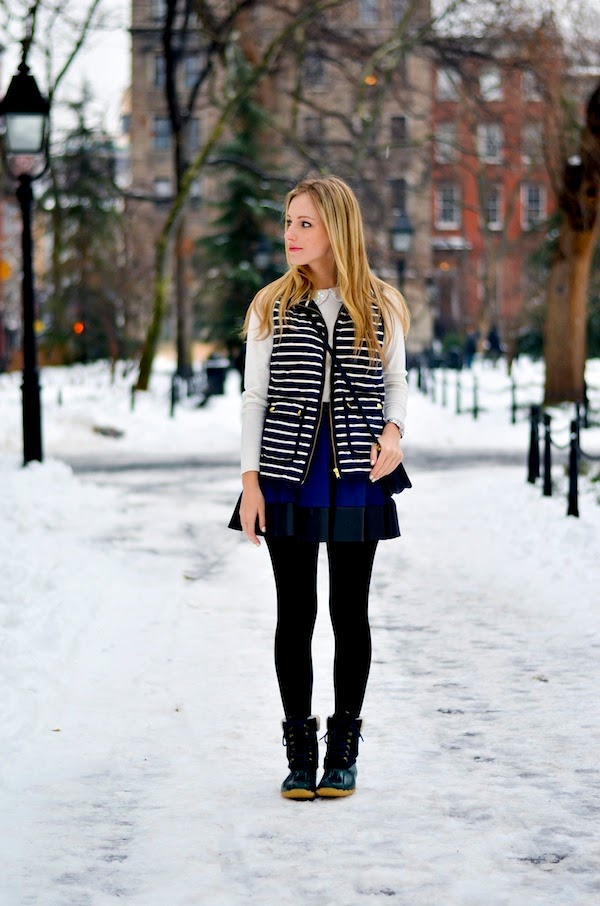 Snow Day Attire | Winter Boots and Vest | Katie's Bliss