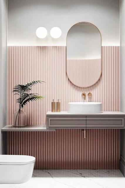 banheiro-moderno-rosa-espelho-oval