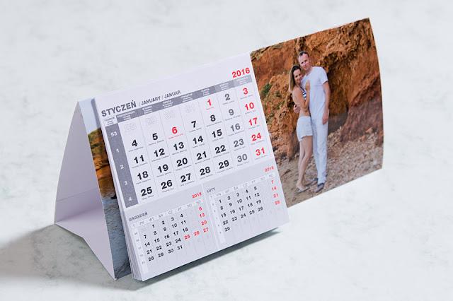 Kalendarz biurkowy z jednym zdjęciem