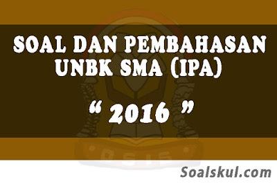 Download Soal dan Pembahasan UNBK SMA 2016 (IPA)