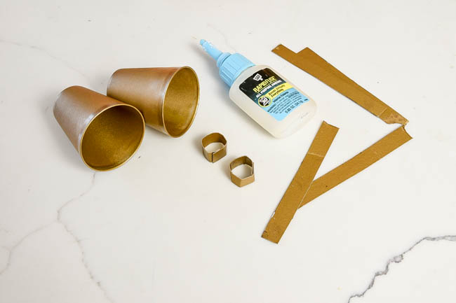 Making Dollar Tree Brass bell tops