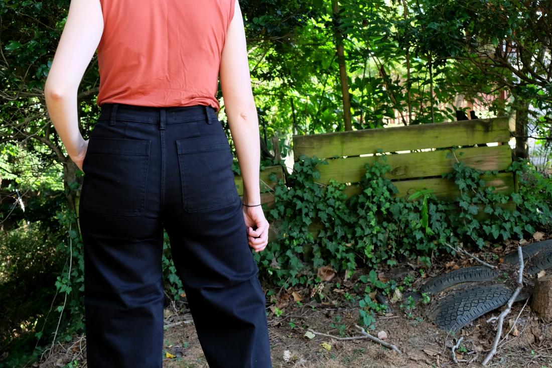 everlane wide leg crop pant review