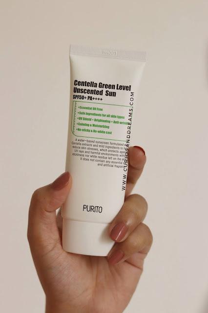 Purito Centella Green Level Unscented Sunscreen review, Purito sunscreen review, Purito india