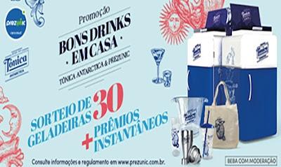 Promoção Bons Drinks em Casa Prezunic e Tônica Antarctica
