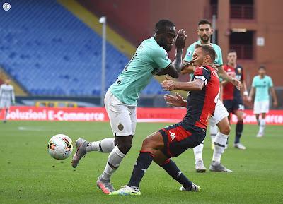 ملخص واهداف مباراة انتر ميلان وجنوي (3-0) في الدوري الايطالي