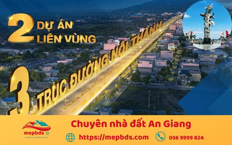 công trình giao thông kết nối thành phố Châu Đốc
