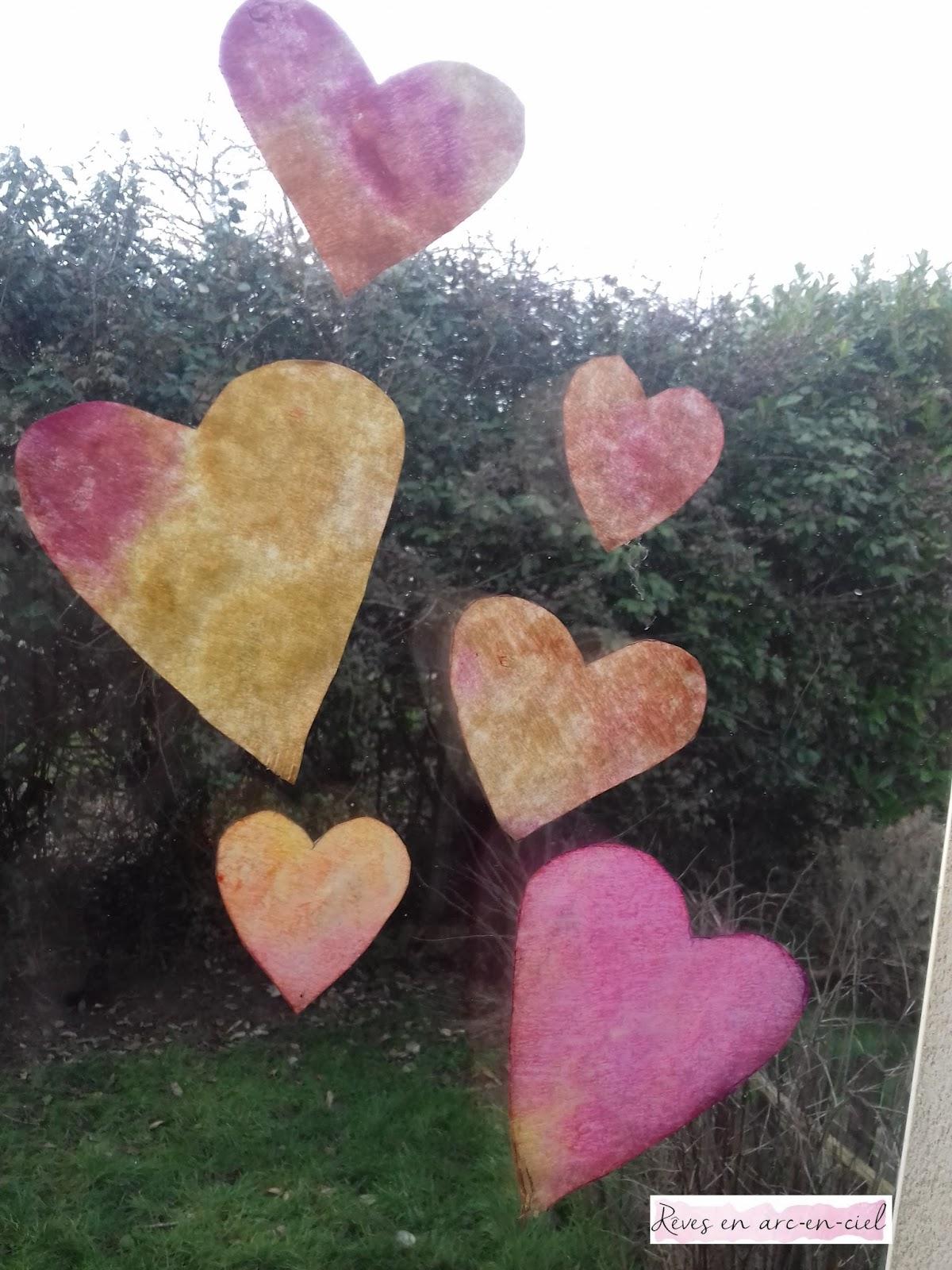 attrape soleil en coeur [ st valentin ]   rêves en arc en ciel
