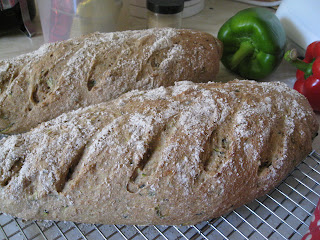 Mint and Courgette bread