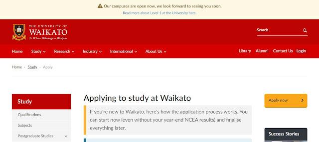 Michael Baldwin Memorial Scholarship University of Waikato