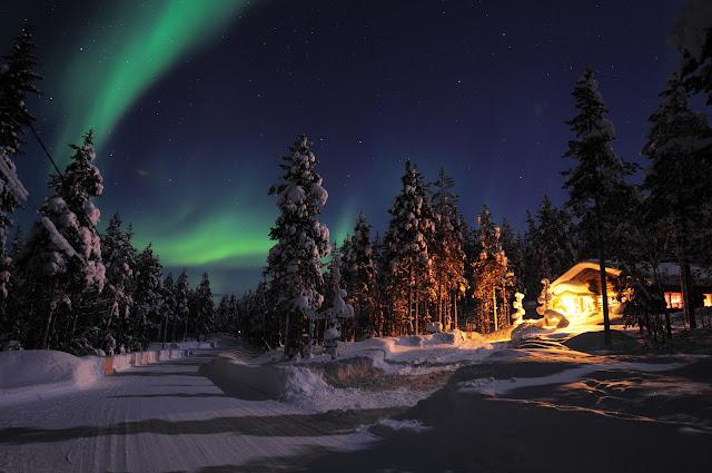 christmas Aurora Rovaniemi Lapland santa claus