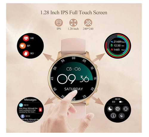 BCFHYK LW36 Women Smartwatch for iOS and Android Phones