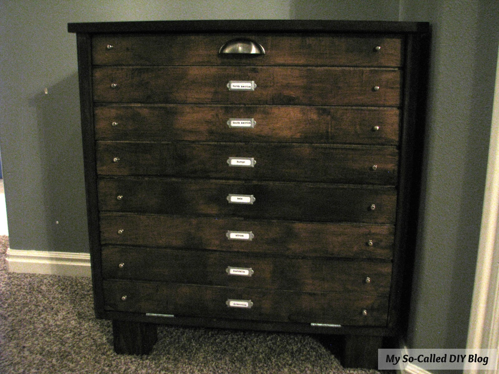 map chest store drawer drawers of
