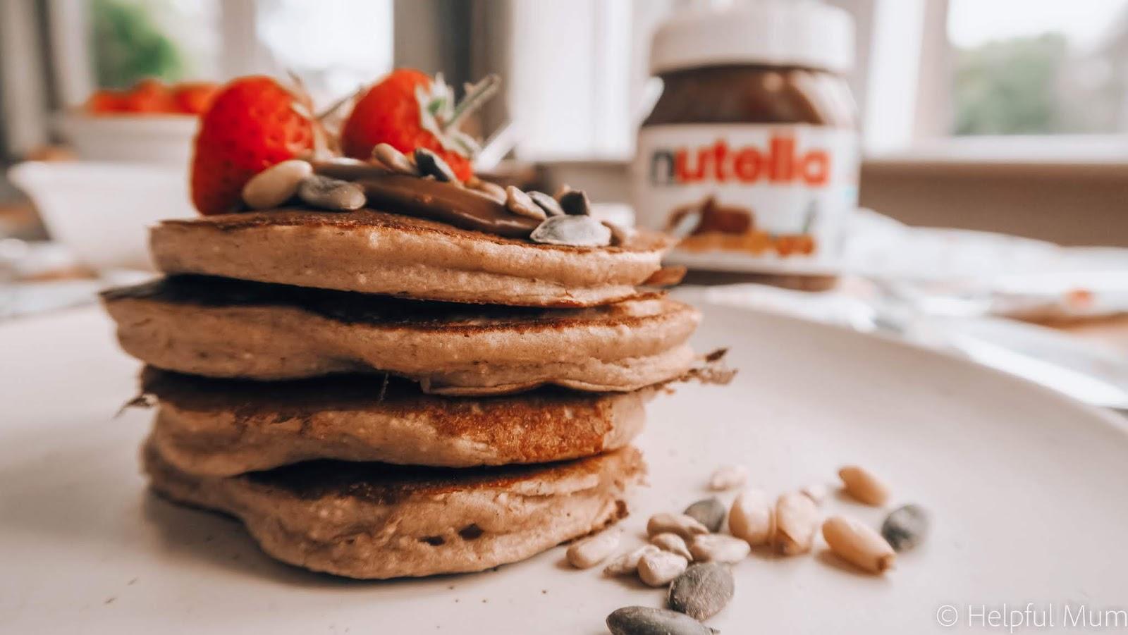 nutella protein pancakes