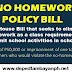 No homework policy bills filed, 50K fine for violators