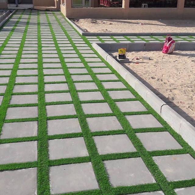 تنسيق حدائق الممرات العشب الصناعي بالبكيرية