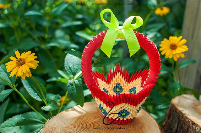 581. Koszyczek z origami / 3d origami basket