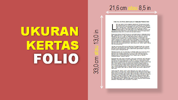 Ukuran Kertas Folio