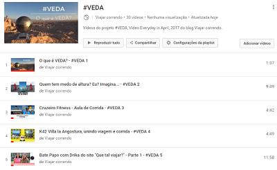 Lista de Vídeos no YouTube #VEDA