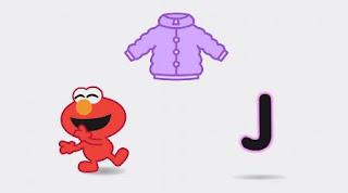 Animated Elmo sings J Jacket Song. Sesame Street Alphabet Songs