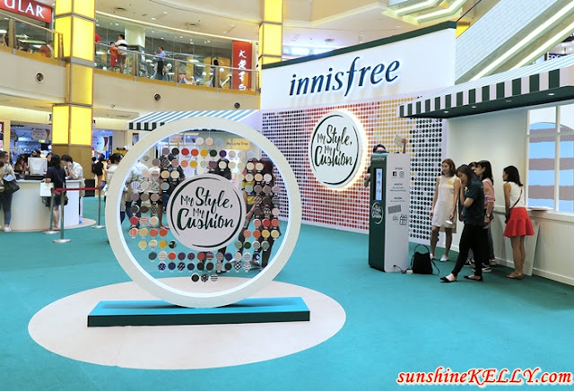 innisfree My Style My Cushion, My Cushion Pop Up Store,  innisfree Long Wear Cover Cushion, innisfree Water Fit Cushion, air magic puff, cushion stamp, cushion brush
