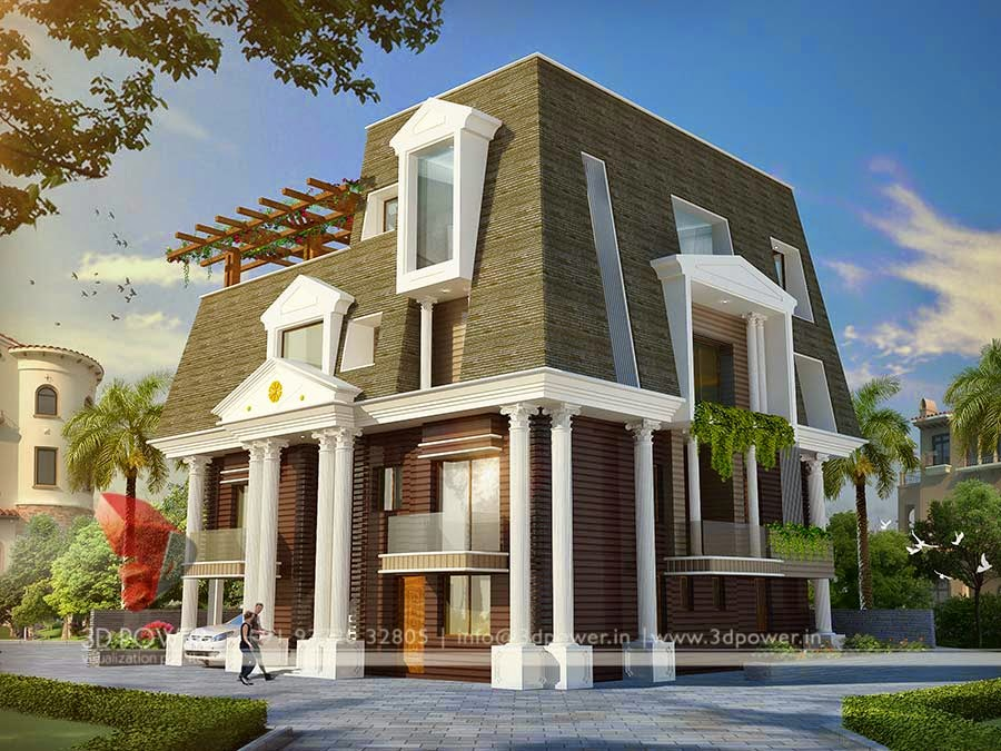 3D Contemporary Small Bungalow