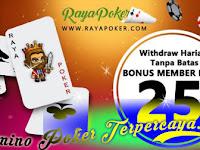 RAYAPOKER - BONUS CHIP 25000 & BONUS CHIP SETIAPHARI