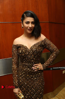 Actress Shruthi Hassan Pictures in Long Dress at Premam Movie Audio Launch  0003.JPG