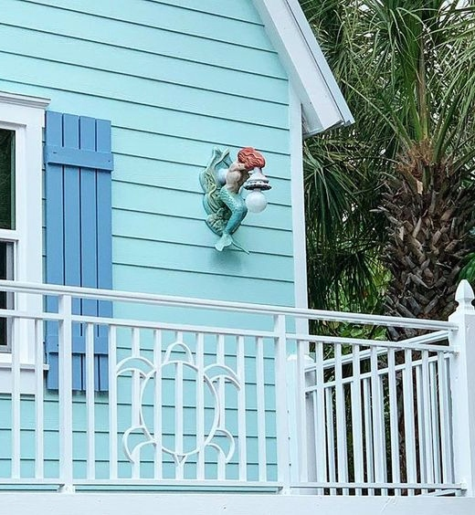 Pale Blue Painted Beach Cottage